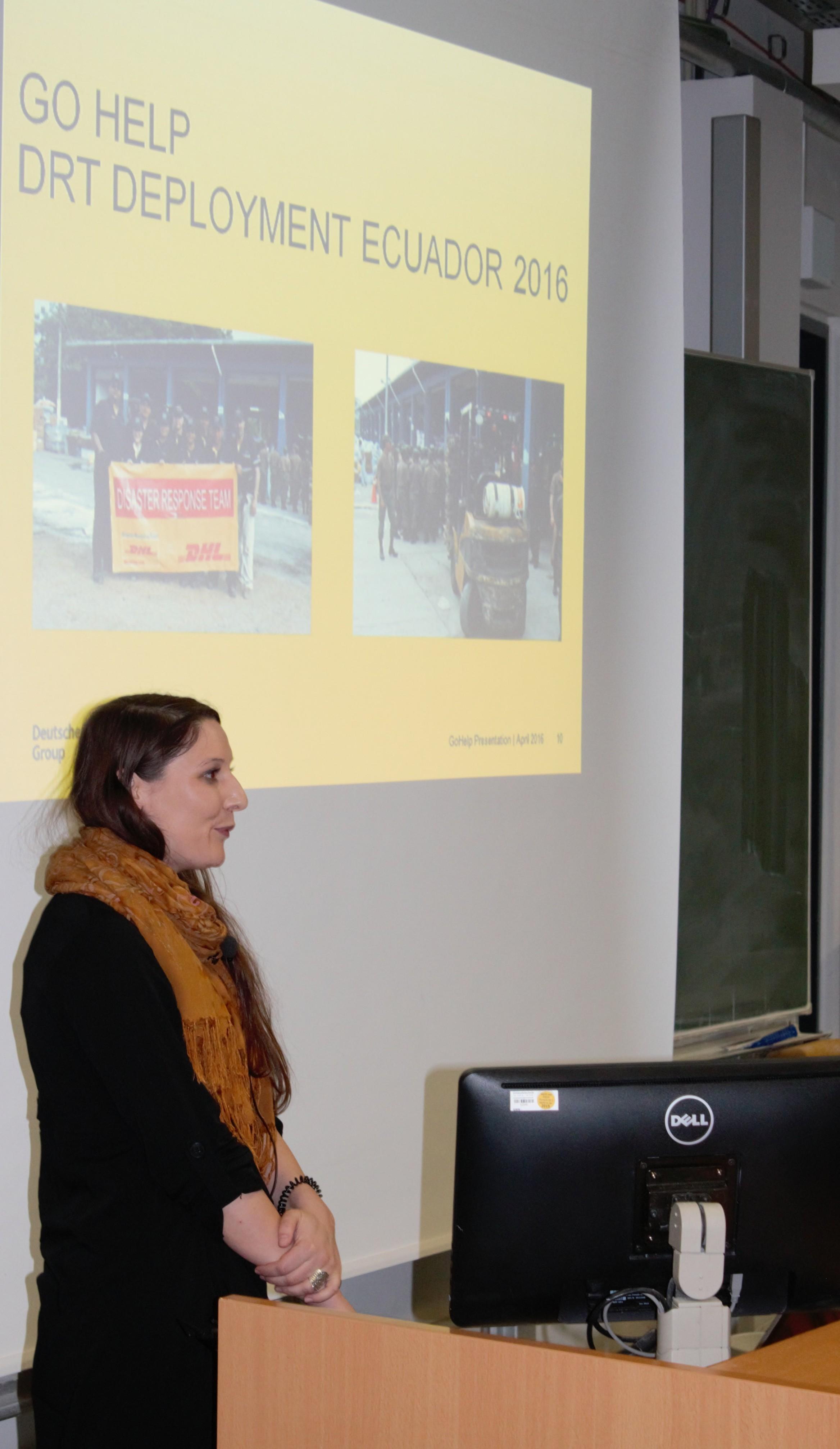 Yvonne Michel zum Katastrophenmanagementprogramm der Deutschen Post DHL.