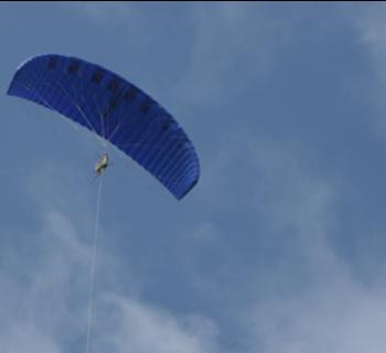 In bis zu 700 Metern Höhe: Flugdrache von KPS Foto: KitePowerSystems