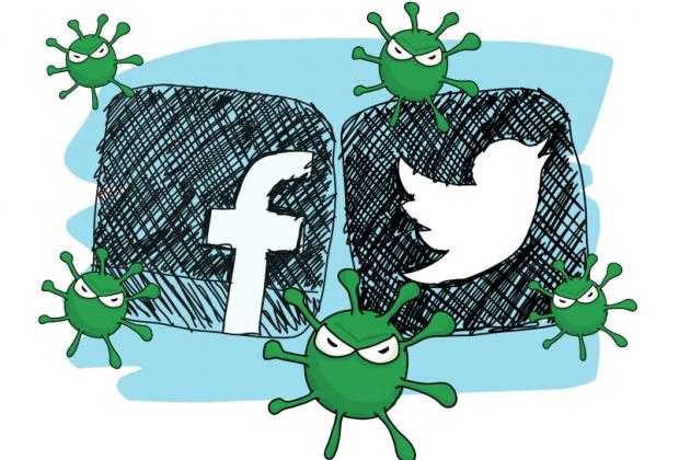 Eine Gefahr für Nutzer sozialer Netzwerke: Social Bots. Grafik: Kerstin Meinert via Videoscribe