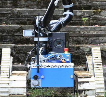 Treppen? Kein Problem für Roboter Tango // Foto: Benjamin Freundt