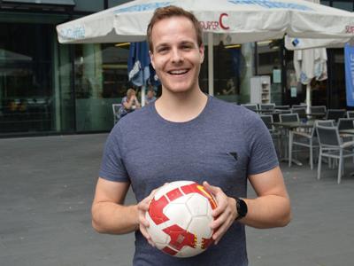 Matthias Sienz, den Technischen Leiter und Mitbegründer von Impect. Foto: Sebastian Dreher, RWTH Aachen