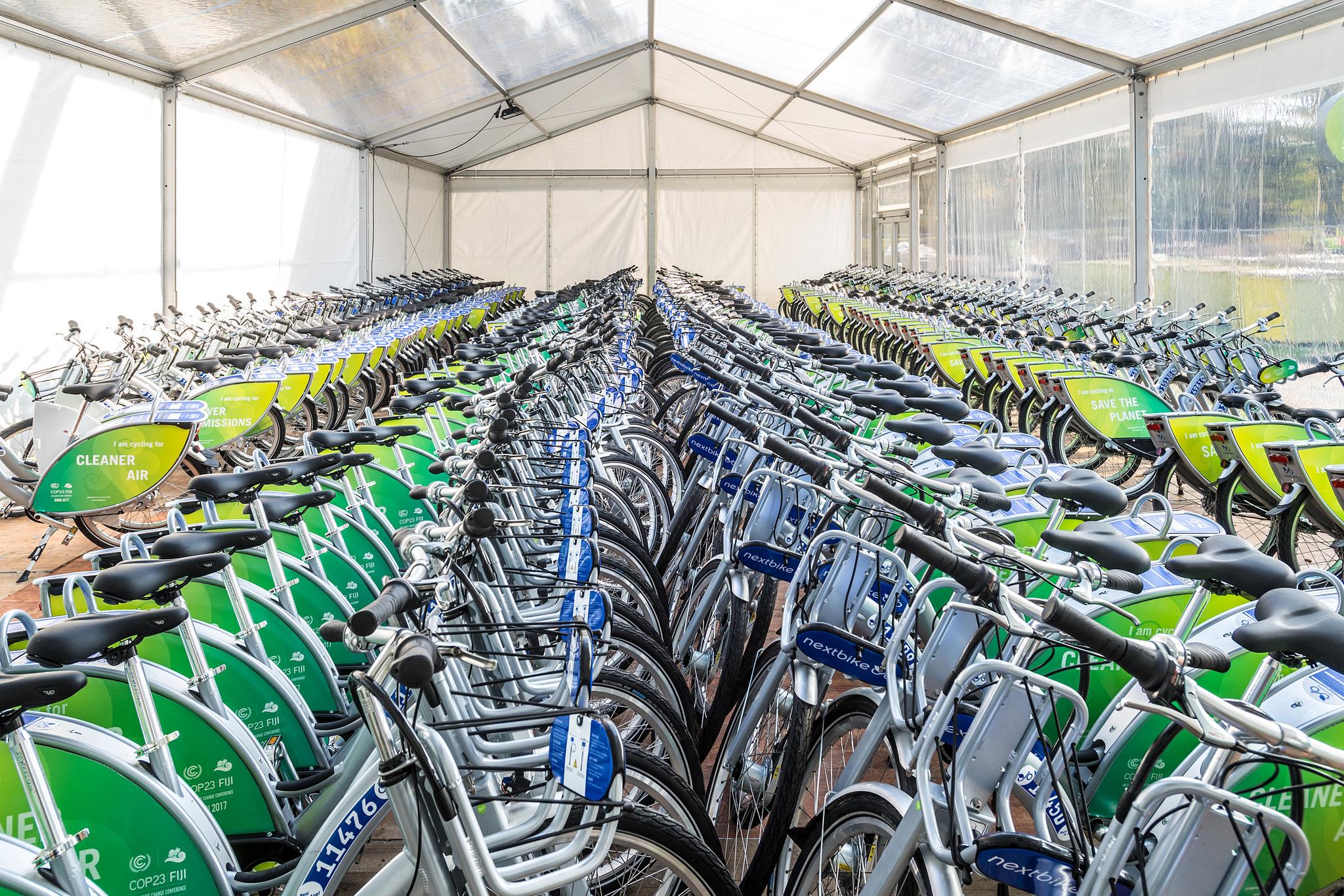 Leihfahrräder auf der COP 23