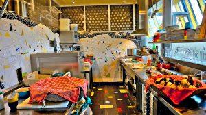 Küche im Earthship