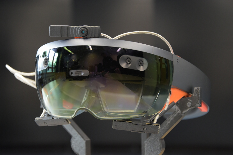 Microsoft's Hololens with a custom fit Eye-Tracking system