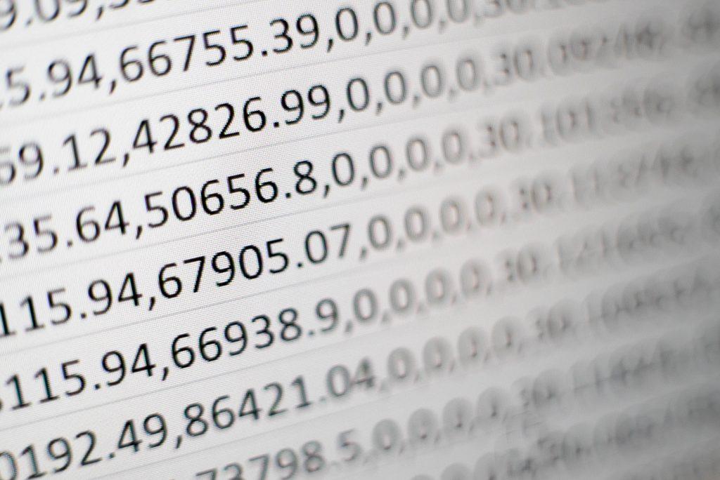Riesige Zahlentabellen – von Menschen kaum einzuordnen. Computer brauchen Millisekunden zur Interpretation. Foto: Mika Baumeister