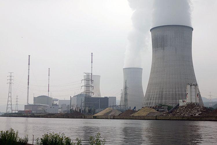 Das Kernkraftwerk Tihange liegt an der Maas bei der belgischen Stadt Huy und ist rund 60 Kilometer Luftlinie von Aachen entfernt. //Quelle: Paulina Zacharias