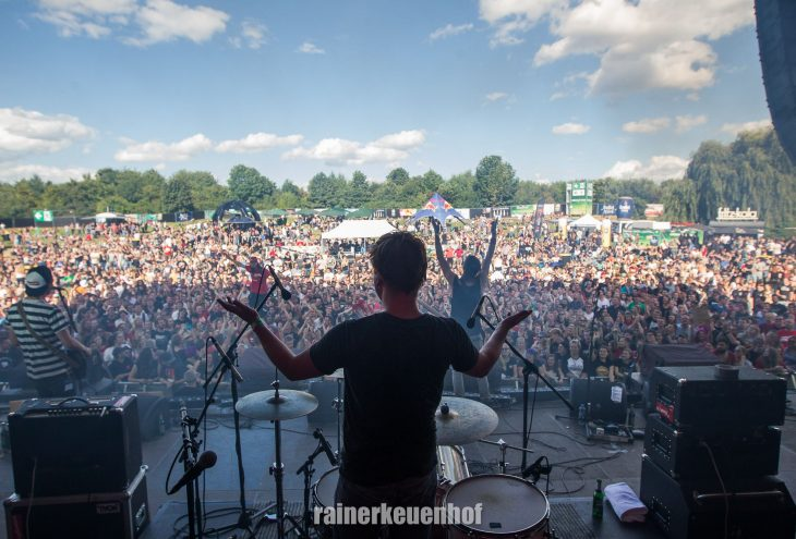 Band beim Green Juice Festival 2016; Foto: Rainer Keuenhof
