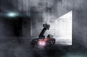 Projekt SmokeBot: Ein ferngesteuertes Erkundungssystem unterstützt die Feuerwehr mit Radartechnik. Foto: Fraunhofer FHR