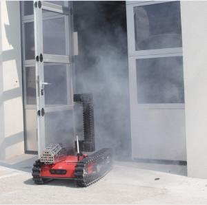 Ein früher Prototyp der SmokeBot Plattform. Bereits 2015 wurden Such und Rettungs-Szenarien geprobt.