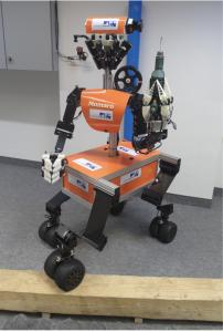 Momaro: Ein mobiler Roboter, der speziell für die Darpa Challenge entwickelt wurde.