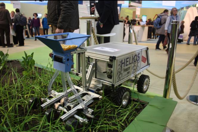 Roboter zur Aussaat von Pflanzen // Quelle: Timo Brauer