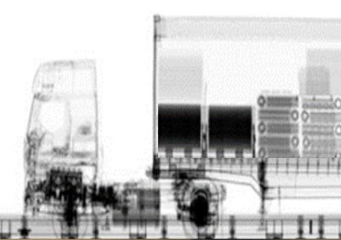 Next Generation Cargo X-Ray macht die Fracht innerhalb der Container sichtbar.
