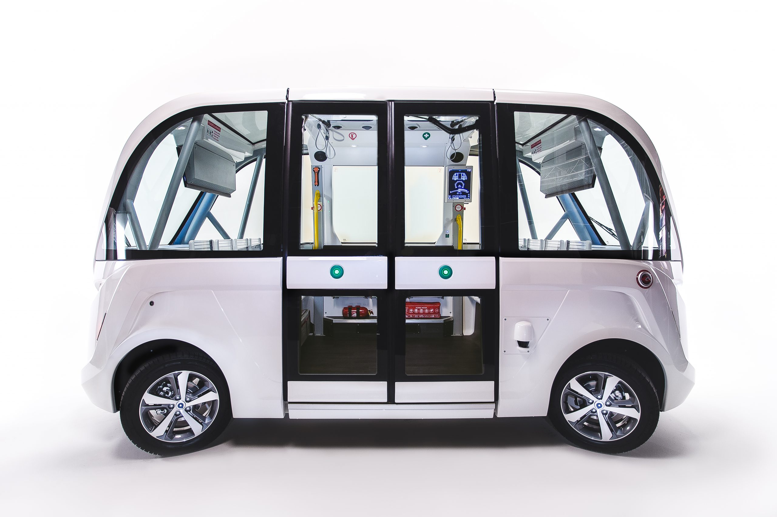 Autonome Busse - Seitenansicht