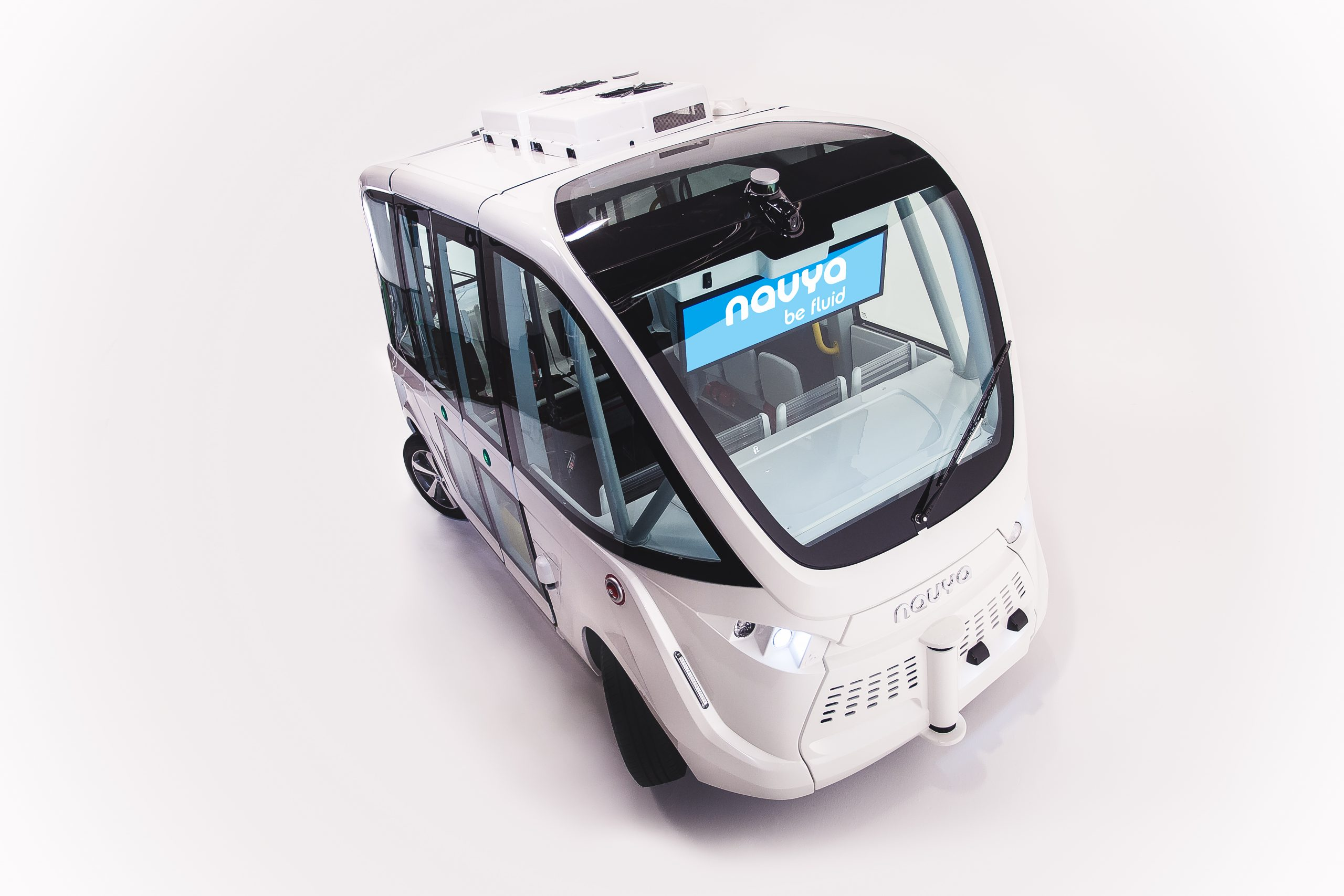 Autonome Busse- teilweise Draufsicht