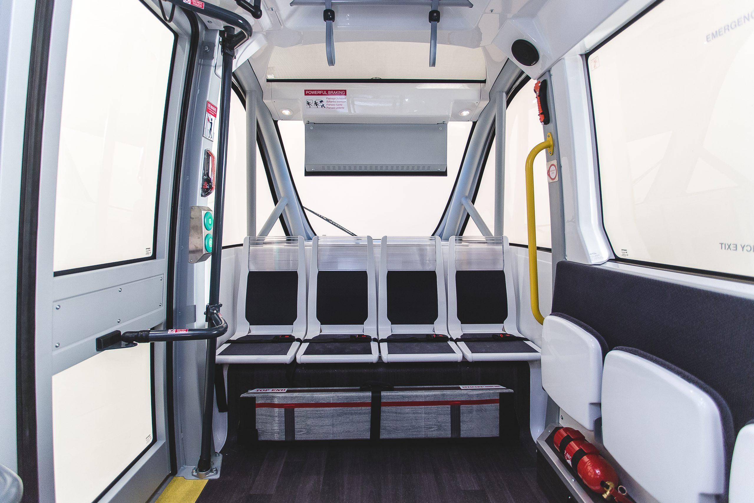 Autonome Busse - Innenansicht