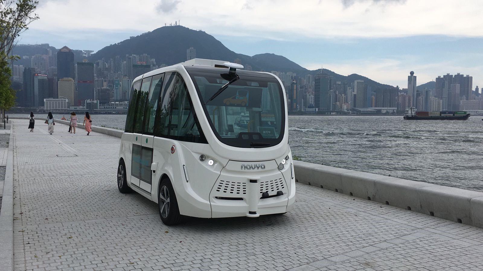 Autonome Busse - Ansicht von außen