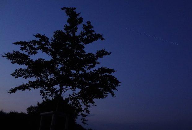 Satelliten des Projekts Starlink erscheinen am Nachthimmel