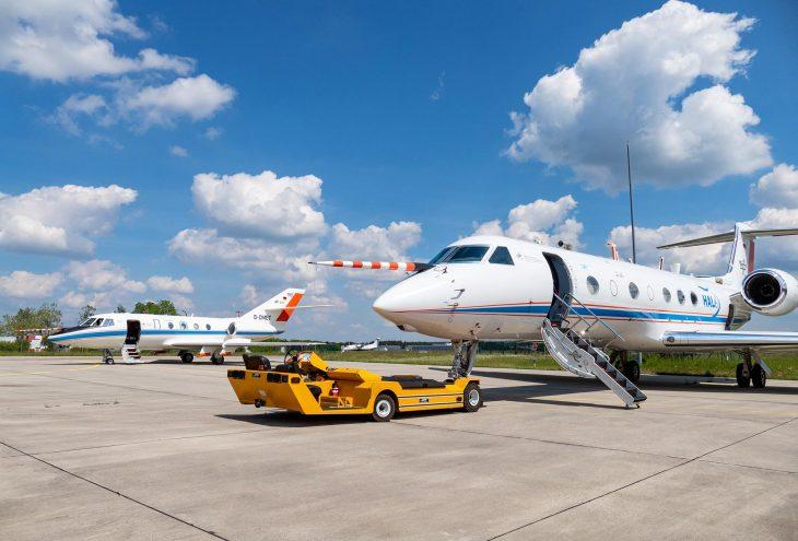 Messflugzeuge, die im Forschungsprojekt BLUESKY benutzt wurden