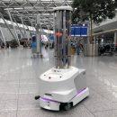 UV-C Desinfektionsroboter im Düsseldorfer Flughafen