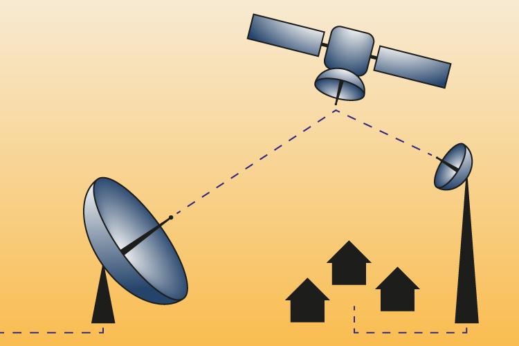 Satelliten für schnelles Internet