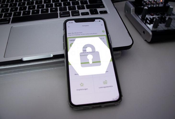 Smartphone mit Schloss und ePA