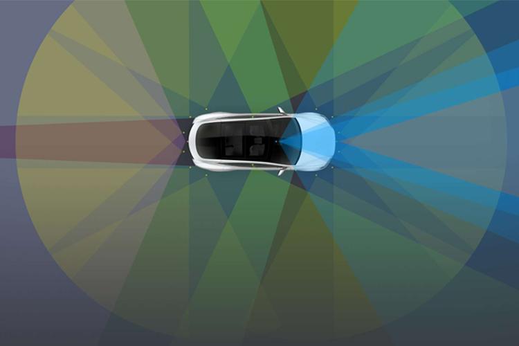Teslas Autopilot Sensoren analysieren die Umgebung