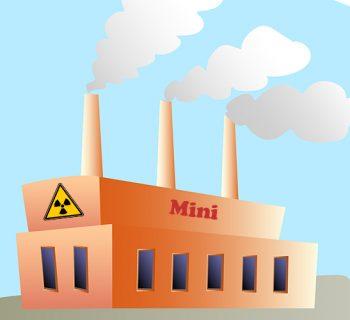 Kleiner Reaktor mit Rauchschwaden