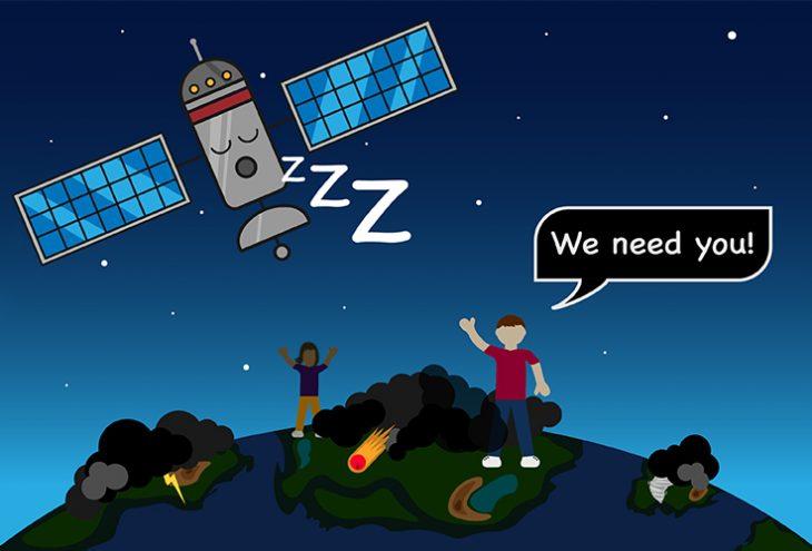Teaserbild: Was leisten Satelliten? Lenz, Graf